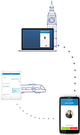 Connect multiple locations and mobile and remote workers.